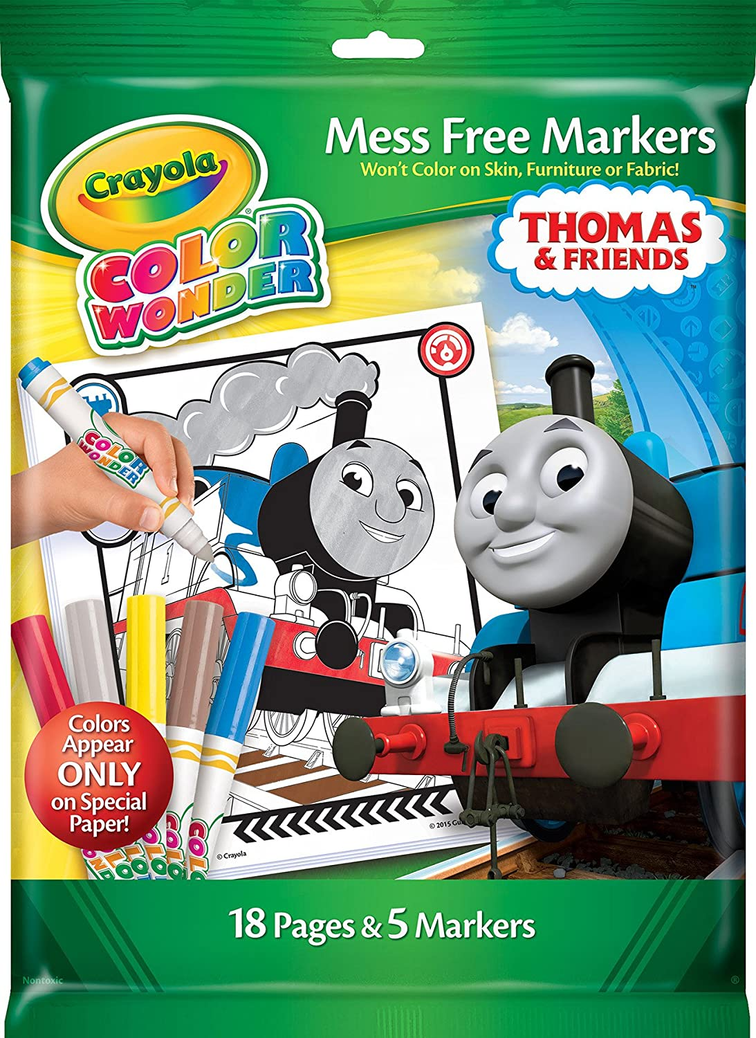 Crayola Thomas Friends Color Wonder Mess Free Coloring Pages Markers Paper Craft Amazon Canada