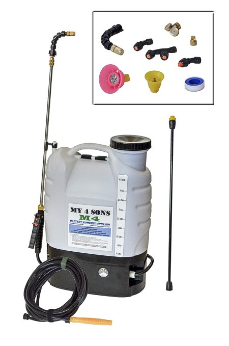 4-Gallon Battery Powered Backpack Sprayer Wide Mouth