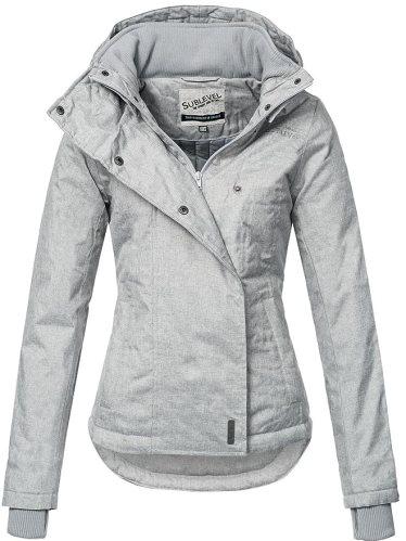 Sublevel Sportliche Damen Winter Jacke 46550D in Hellgrau Gr. XS