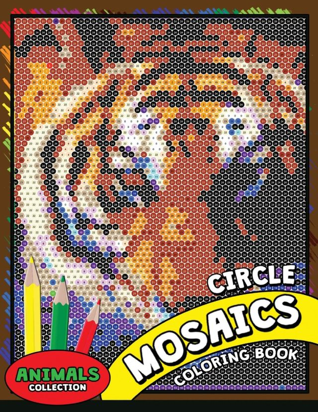 Amazon.com: Circle Mosaics Coloring Book 26: Cute Animals Coloring