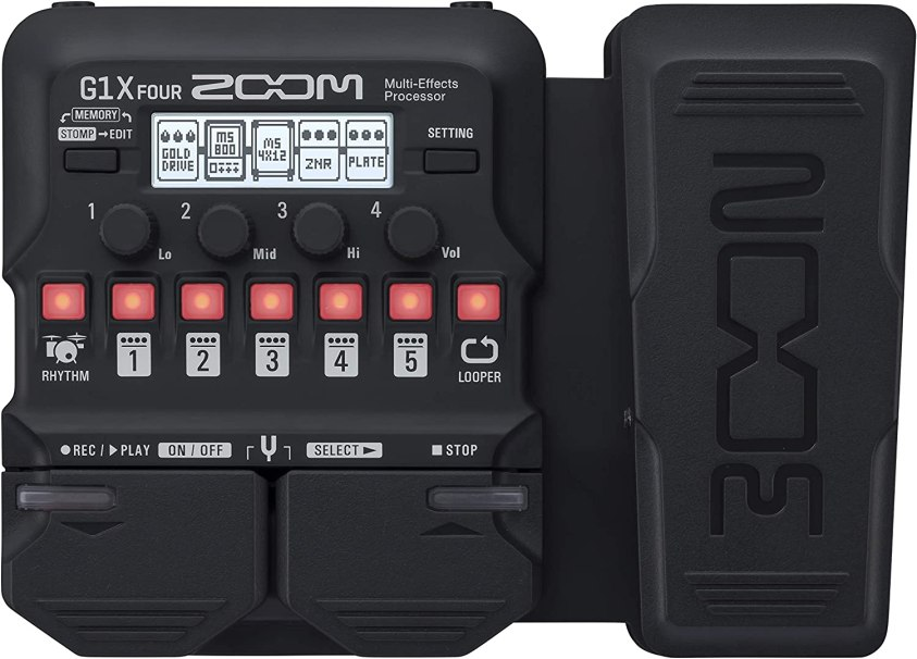 Amazon.com: Zoom G1X FOUR Guitar Multi-Effects Processor with Expression  Pedal, With 70+ Built-in Effects, Amp Modeling, Looper, Rhythm Section,  Tuner, Battery Powered: Musical Instruments
