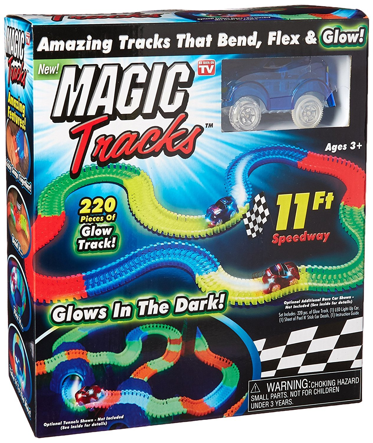 Magic Tracks Race Track (Blue Car) 11 Foot Speedway