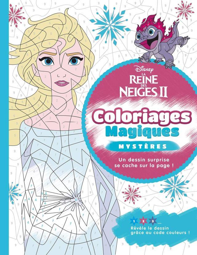 LA REINE DES NEIGES 25 - Coloriages Magiques - Mystères : Disney