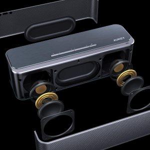 Ιταλικό Amazon | AUKEY Bluetooth 4.0 speaker with 16W Dual Driver and Bass-Radiators, 12 Hours of Play, Wireless Metal Speaker for Echo Dot, iPhone, iPad, Samsung, Android