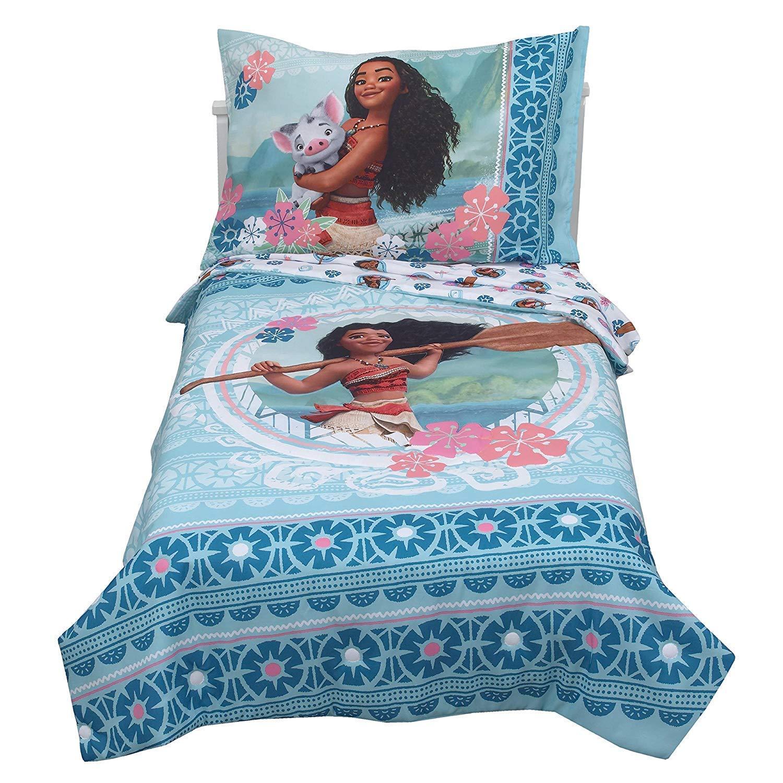 Amazon Com Disney Moana Aqua Toddler Bedding Set 4pc Baby