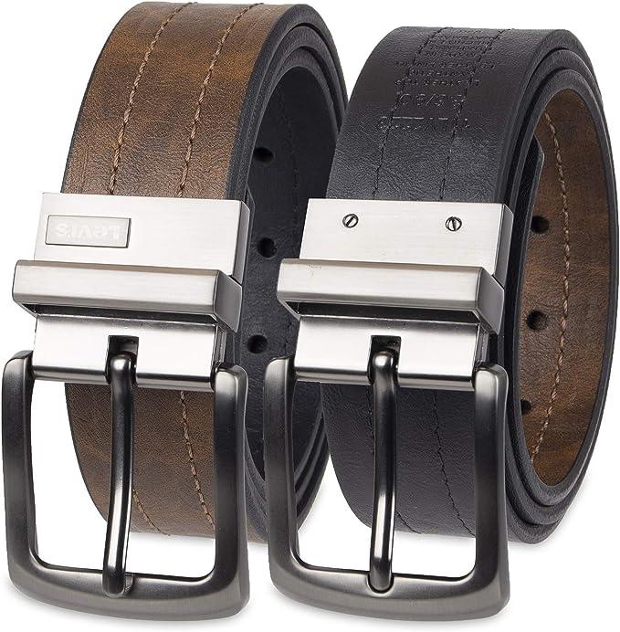 Levi's Men's Levi's 1 9/16 in. Reversible Belt (Regular and Big & Tall Sizes),Brown/black,30