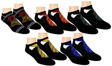 Harry Potter Womens Ankle-No Show Socks 5 Pair Pack (Black)