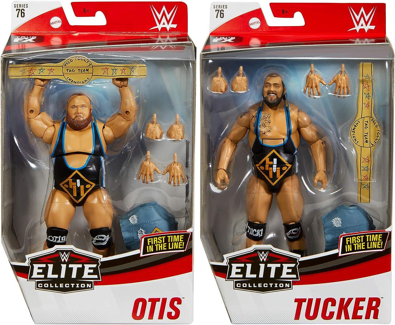 Amazon Com Ringside Package Deal Heavy Machinery Otis Tucker Wwe Elite 76 Mattel Toy Wrestling Action Figures Toys Games