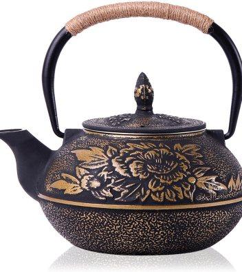 JUEQI Old Dutch Cast Iron Teapot