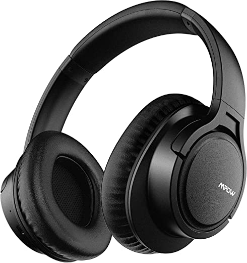 Mpow H7 Bluetooth Headphones Over Ear, Stereo Wireless Headset with Microphone & Comfortable Memory-Protein Earpads & 15 Hours Playtime & Wired and Wireless Headphones for Cellphone/Tablet