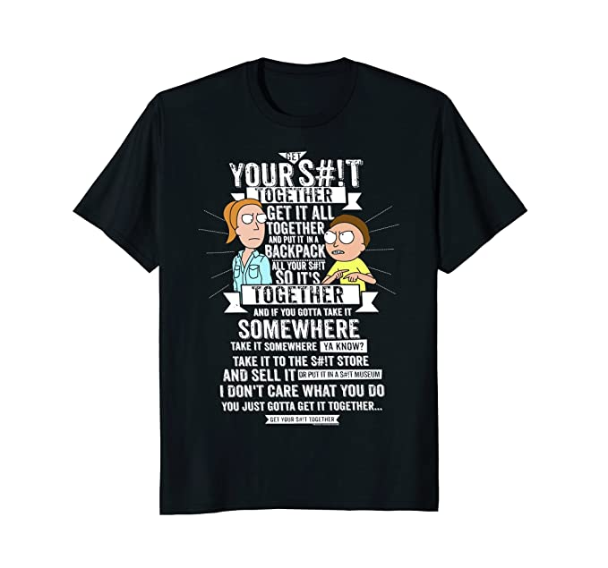 Mens Get It Together - Rick and Morty Large Black