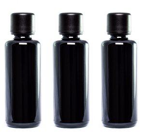 UltravioLeaf Glass Bottles w/ Euro Dropper Cap 50ml 3 Pack