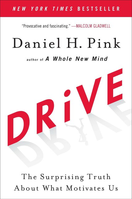 Drive: The Surprising Truth About What Motivates Us: Pink, Daniel ...