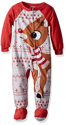 Rudolph Toddler Boys Red Nose Family Sleep 2-Piece Set Or Footie, 2T