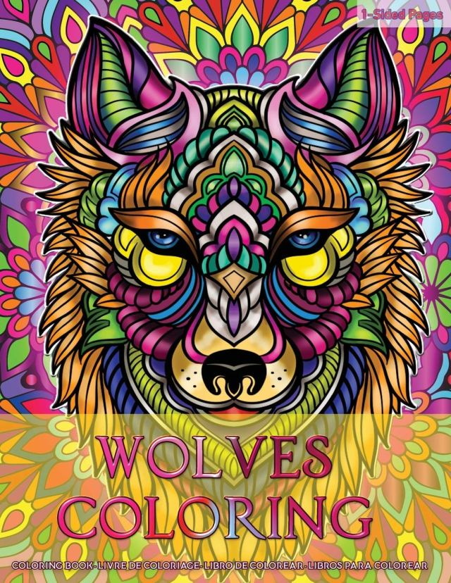 Amazon.com: Wolves Coloring: Coloring Book for Adults Wolves