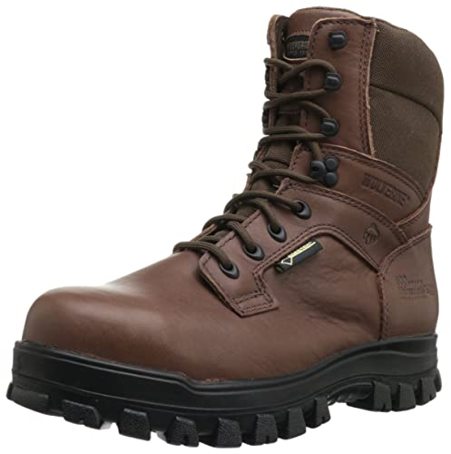 Wolverine Men's Work Prairie Trekker Gore-Tex Waterproof Steel Toe EH Angora/ Maxi Brown Boots