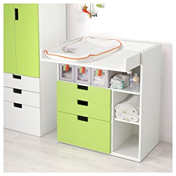 Ikea Stuva Table à Langer Avec 3 Tiroirs Blanc Vert