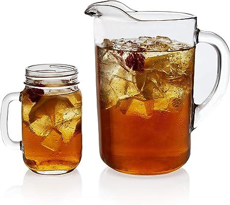 Amazon.com: Libbey Country Folk Sweet Tea Entertaining Set with 6 ...