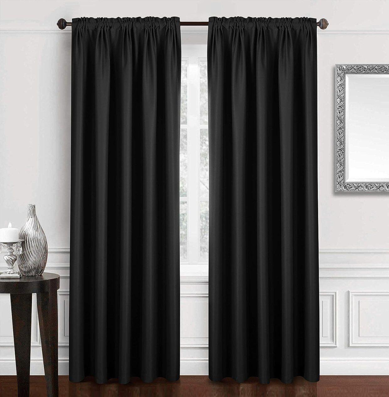 Cortinas elegantes negras para la habitacionhttps://amzn.to/2C4cy3v