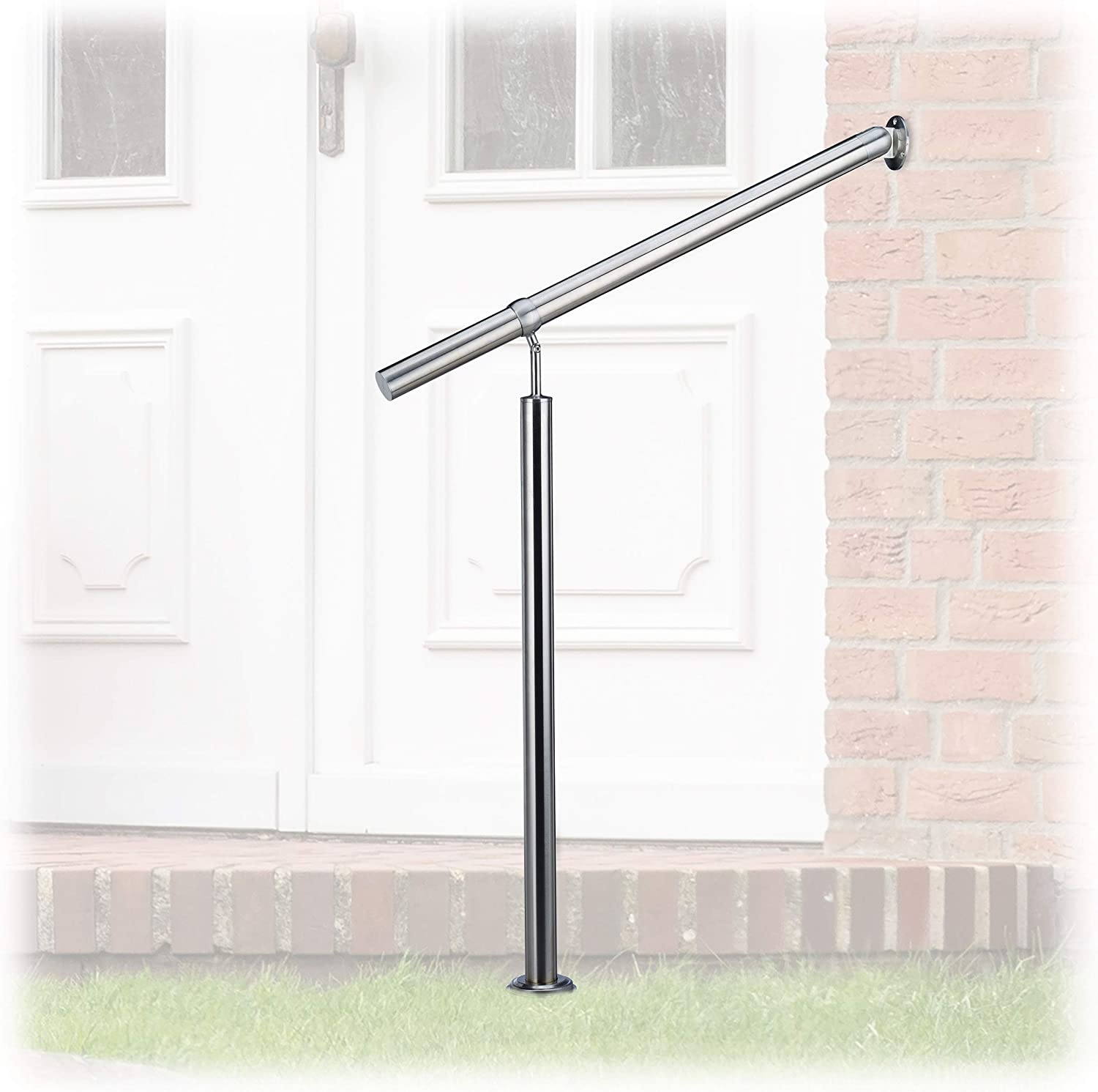 Amazon Com Relaxdays Stainless Steel Handrail For In And Outdoor | Stainless Steel Outdoor Handrails | Safety | Stainless Pipe | Hand Rail | Tube | Square