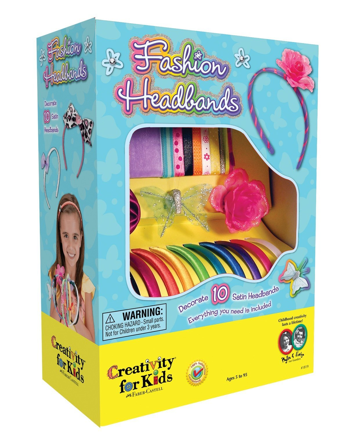 Fashion Headbands Craft Kit, Makes 10