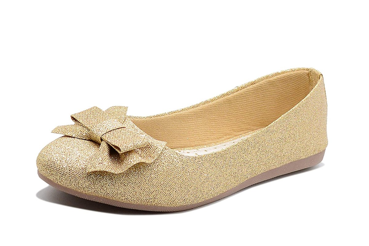 Midsole Women's Casual Embellished Bow Accent Bellies - (FT5028C)