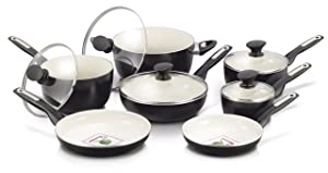 GreenPan, 12 Piece Rio, Black