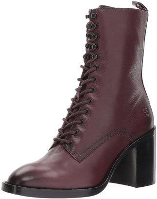FRYE Women's Pia Combat Boot, Wine, 7.5 M US
