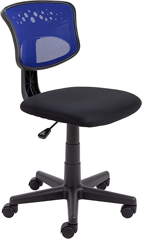 Office Hippo Computer Chair For Home Mesh Office Chair No Arms Small Desk Chair Swivel Blue Black Amazon Co Uk Kitchen Home