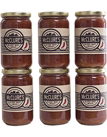 McClure's Spicy Bloody Mary Mixer, 16 Fl Oz (Pack of 6)