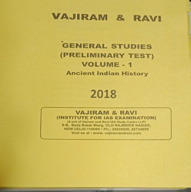 Vajiram and Ravi Ancient India Printed Notes Download - VISION