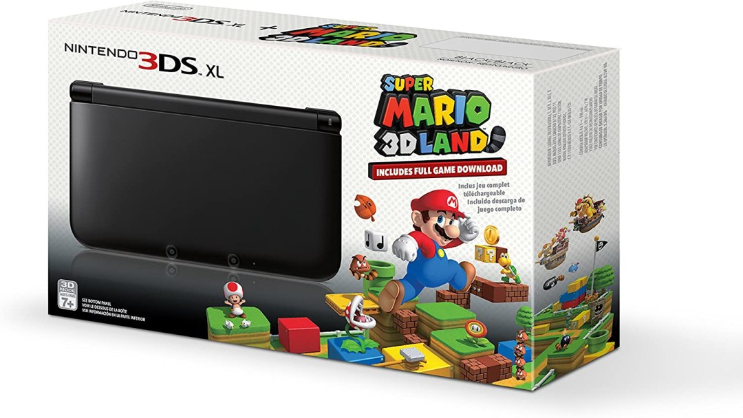 Black Nintendo 3DS XL with (Pre-installed) Super Mario 3D Land Game by Nintendo