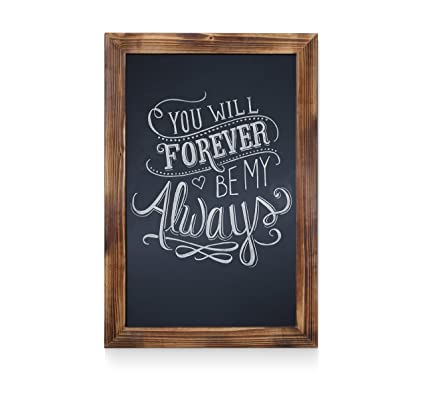 Hbcy Creations Rustic Torched Wood Magnetic Wall Chalkboard Extra Large Size Quot