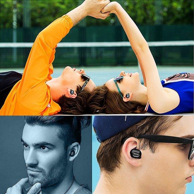 QCY Q26 Bluetooth 4.1 イヤホン スポーツ仕様 ワイヤレス 片耳 ミニ型 ブラック (ブラック)