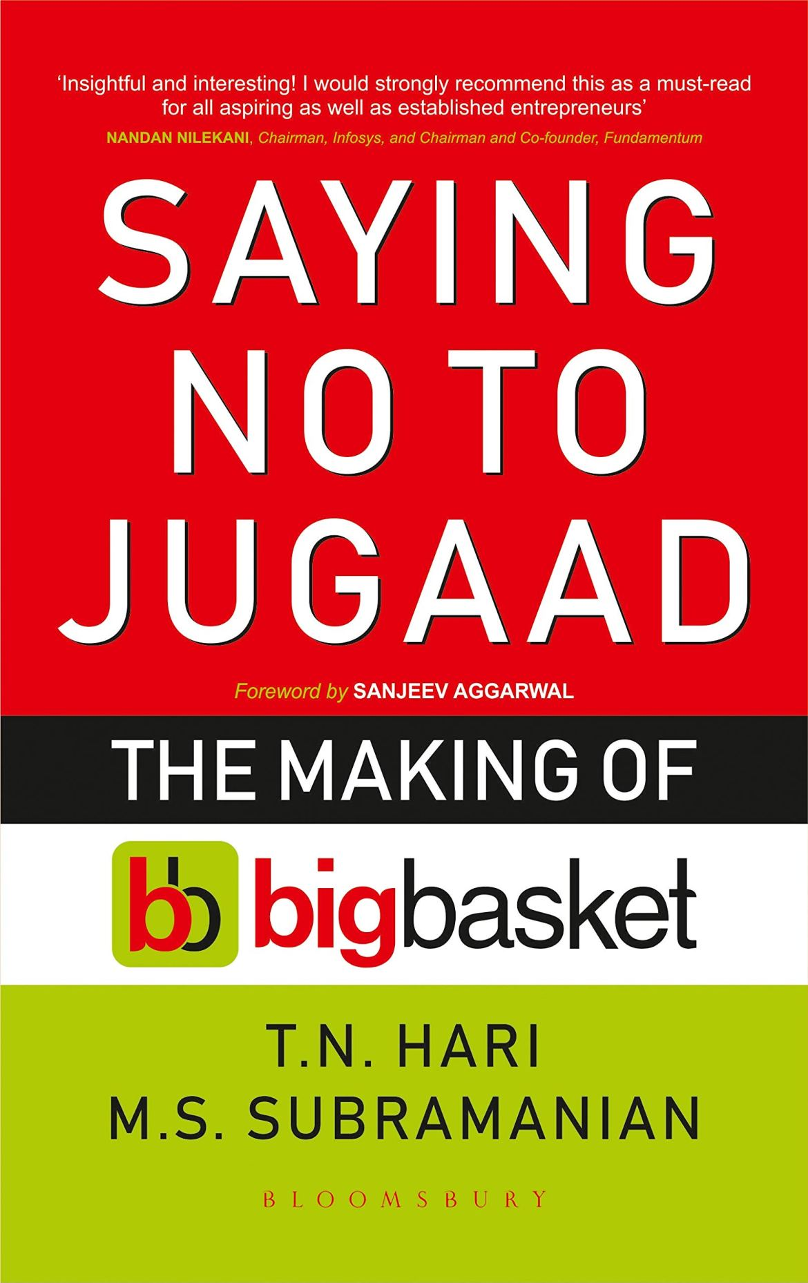 Saying No To Jugaad: The Making Of Bigbasket: TN Hari and MS Subramanian:  9789389351088: Amazon.com: Books