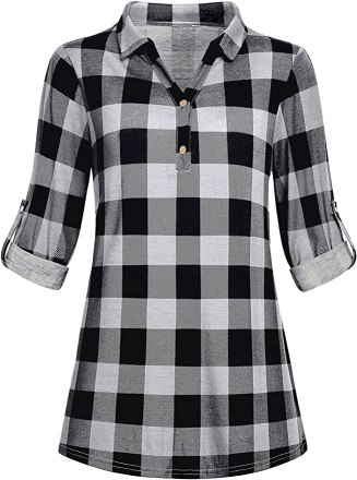 Plaid Tunic - Thanksgiving Fall Outfit
