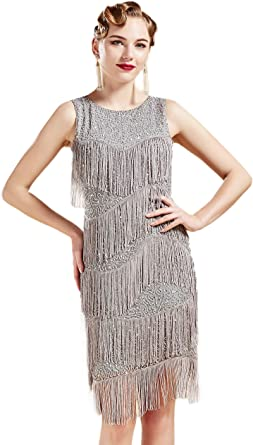BABEYOND 1920s Flapper Dress Gatsby Fringed Dress Roaring 20s ...