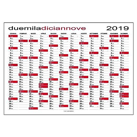 Calendario 2019 Planner Maxi 118 X 84 Cm Planning Da Muro Per Ufficio Spedito Arrotolato Senza Pieghe