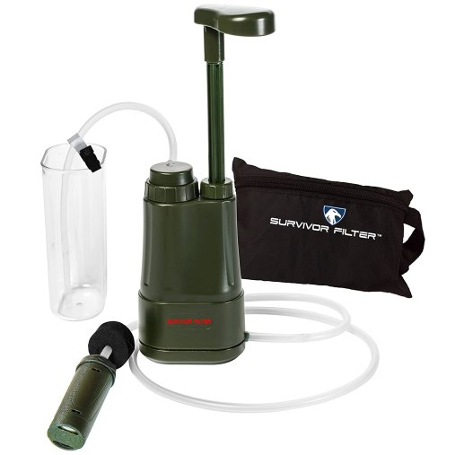 Survivor Filter PRO 0.01 Micron Water Purifier Pump. Emergency and Camping Survival Gear