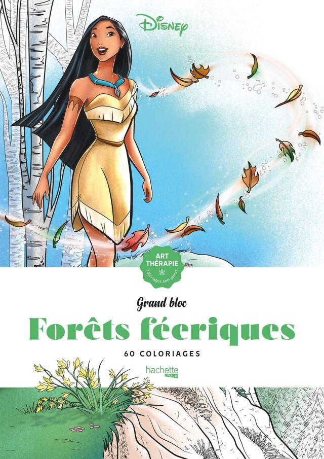 Les grands blocs Disney Forêts féeriques: 6 coloriages : Sousa