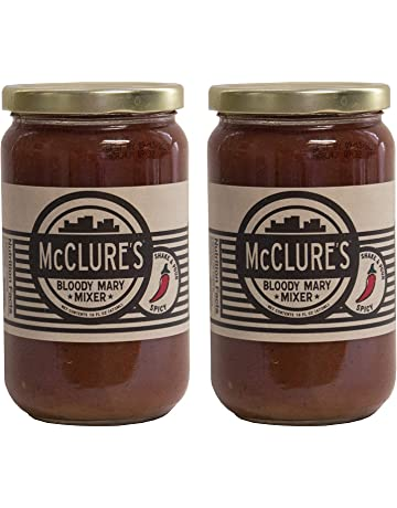 McClure's Spicy Bloody Mary Mixer, 16 Fl Oz (Pack of 2)