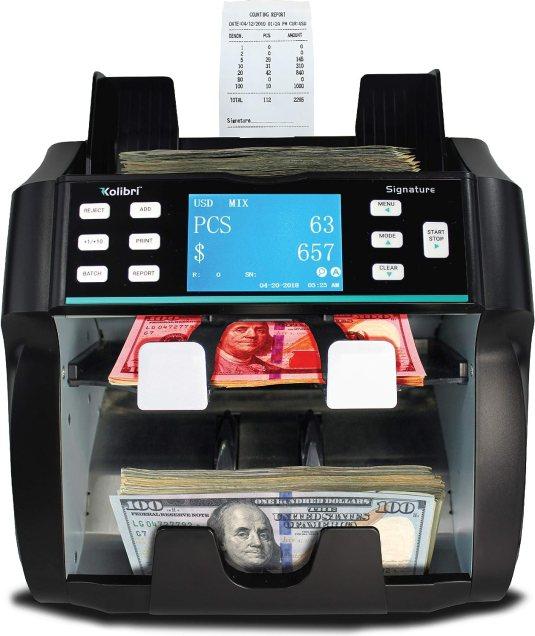 Kolibri Signature 2 Pocket Bank Grade Mixed Money Counter Machine