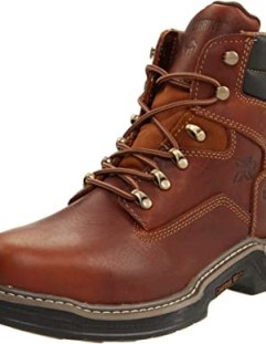 Wolverine Men's Raider 6-Inch Steel Work Boot Safety Toe,Brown,8 XW US