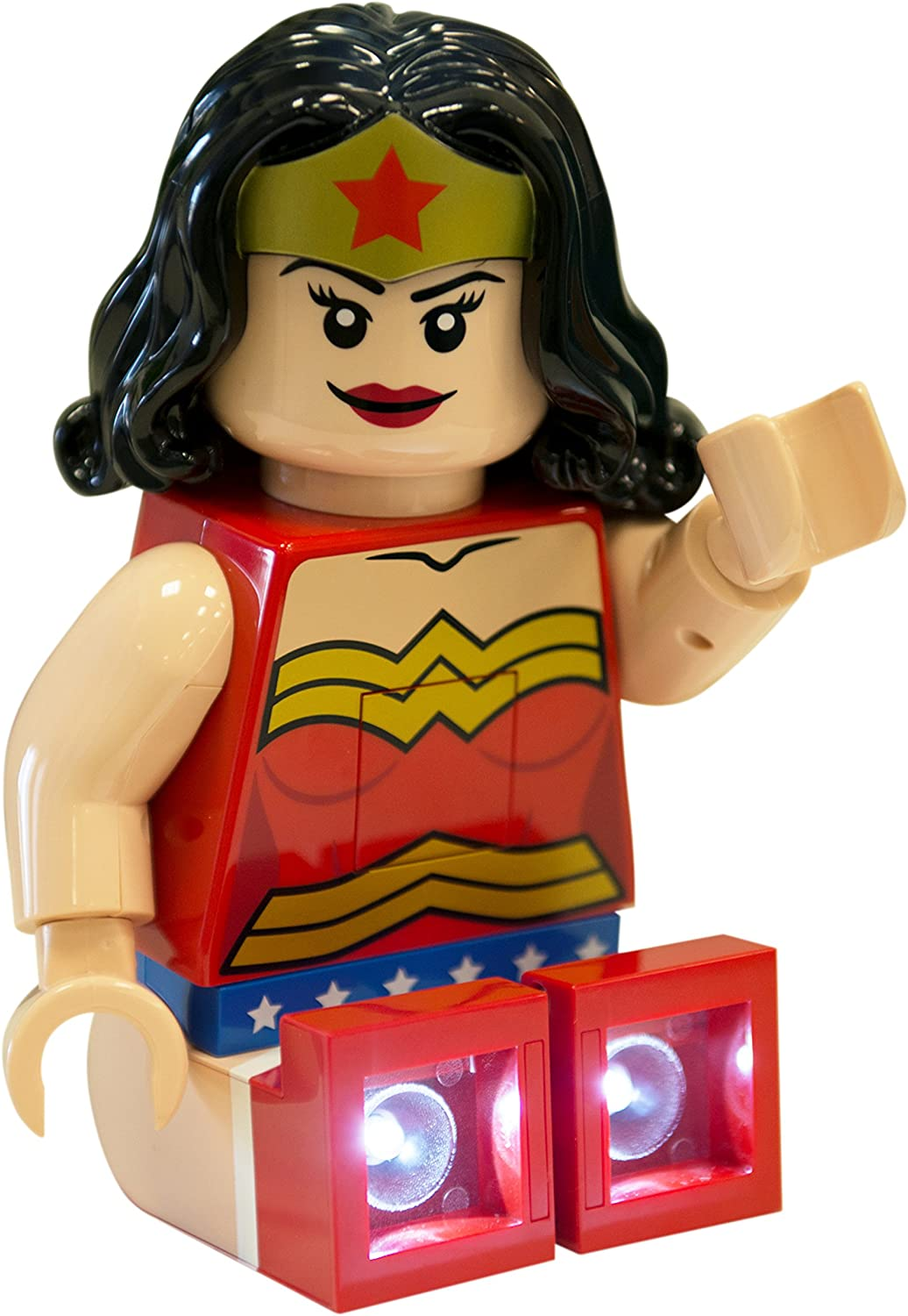 Amazon Com Lego Dc Super Heroes Wonder Woman Led Torch Night Light Reading Light 8 In Home Kitchen