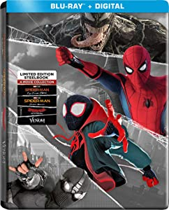 Spider-Man: Far from Home / Spider-Man: Homecoming / Spider-Man: Into the Spider-Verse / Venom 2018 Steel Book Set