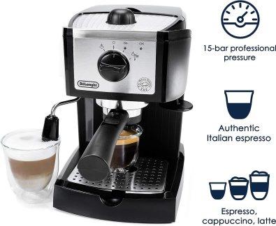 سعر ومواصفات ماكينة قهوة ديلونجي ec155 وعيوبها ومميزاتها
