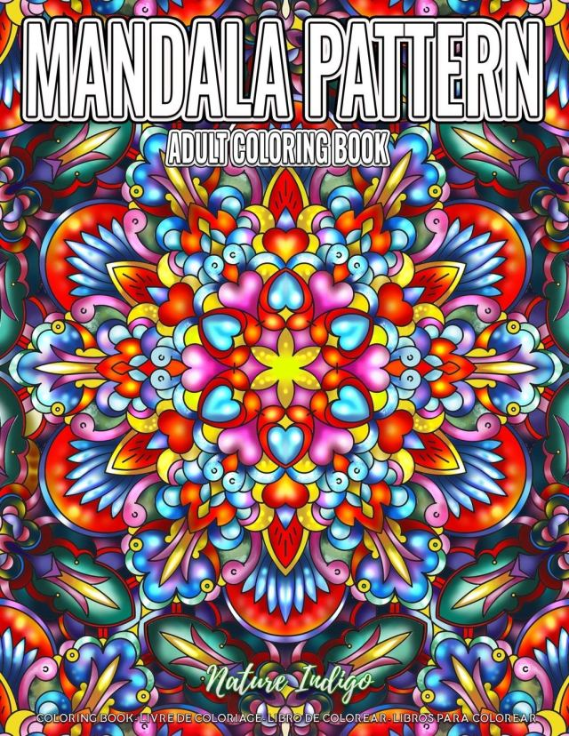 Adult Coloring Book  Mandala Pattern: Relaxing Coloring Pages