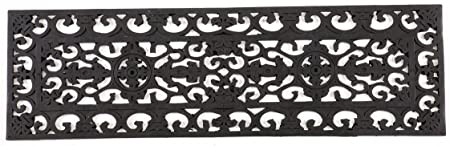 Amazon Com Entryways Fleur Di Lys Stair Tread Recycled Rubber   Amazon Outdoor Stair Treads   Non Slip   Self Adhesive   Mat   Treads Carpet   Indoor Outdoor
