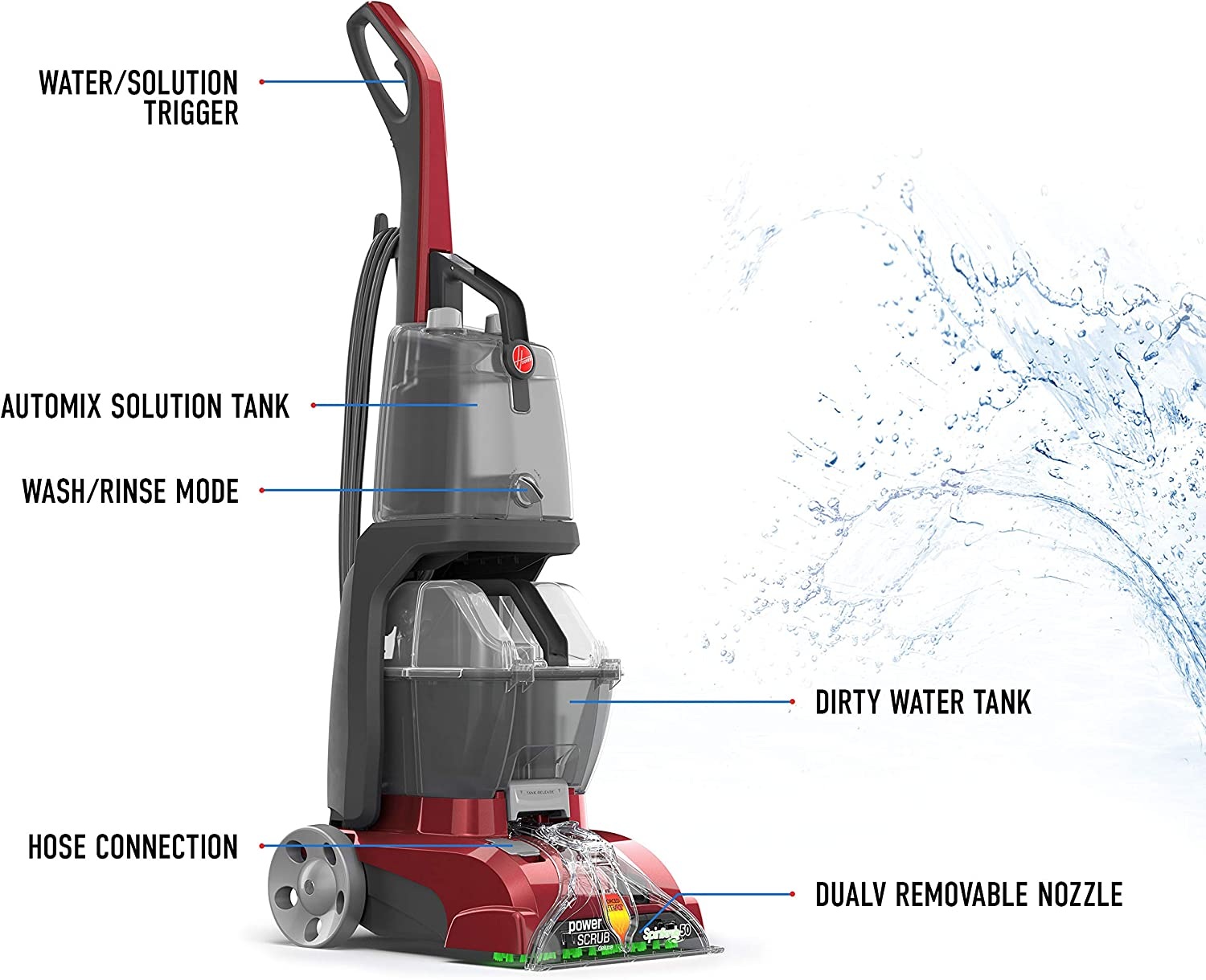Hoover Power Scrub Deluxe Carpet Washer Fh50150 Amazon Ca Home Kitchen