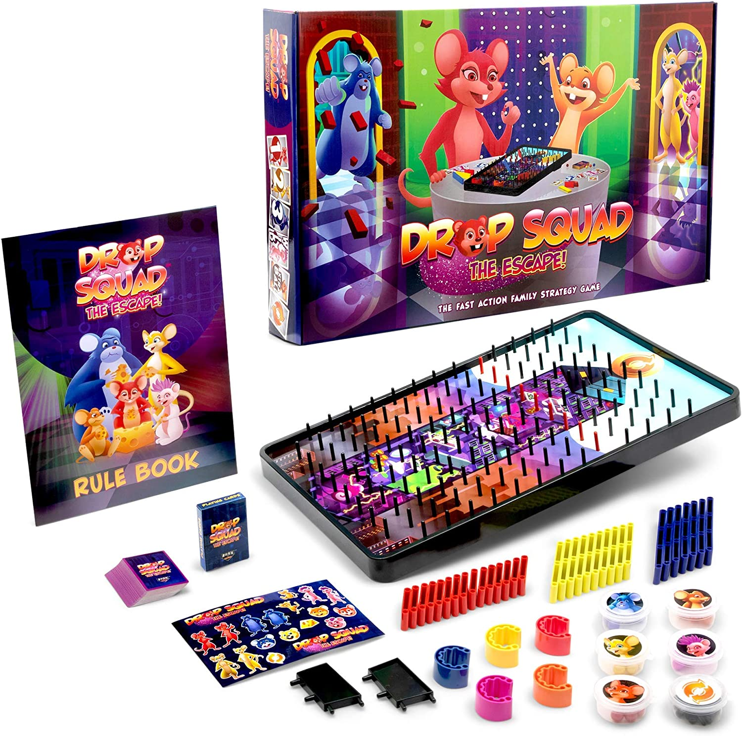 Amazon Com Drop Squad Fun Board Game For Little Kids Any Age Teens And Adults Best Kid Friendly Board Games For A New Family Night Activity Ages 5 6 7 8 9